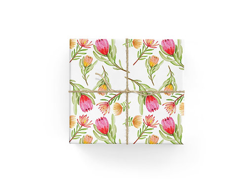 Wrapping Paper - Pretty Proteas