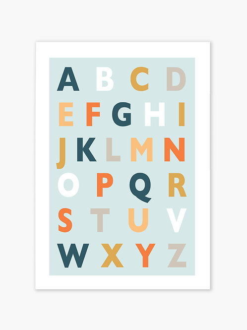 ABC Print - Blue