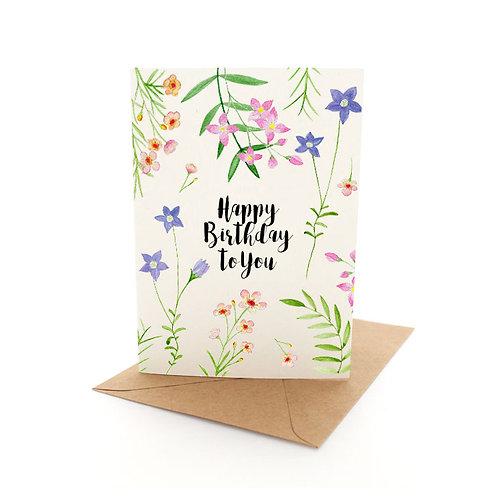 Wildflower Birthday Scatter