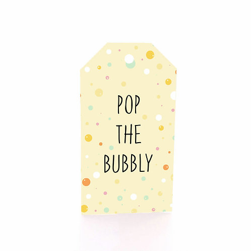Gift Tag 6 pack - Bubbly