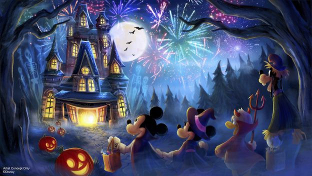 novo show de fogos Halloween Magic Kingdom 2019