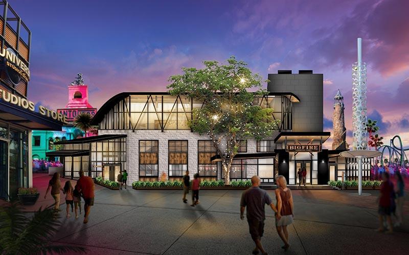 Bigfire novo restaurante Universal's CityWalk comida na fogueira
