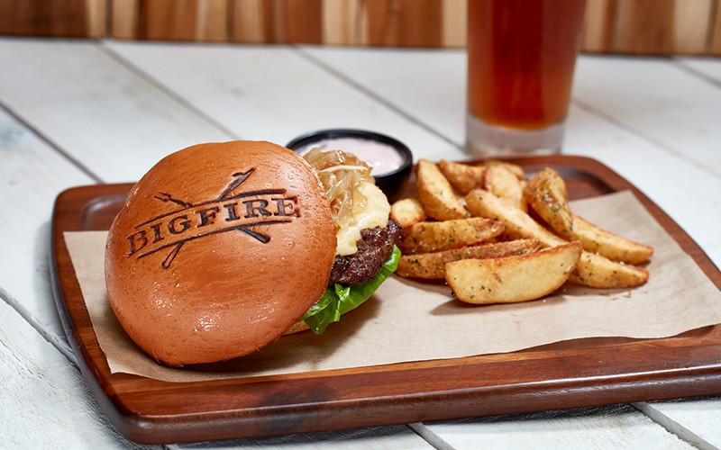 Bigfire hamburger de bisão