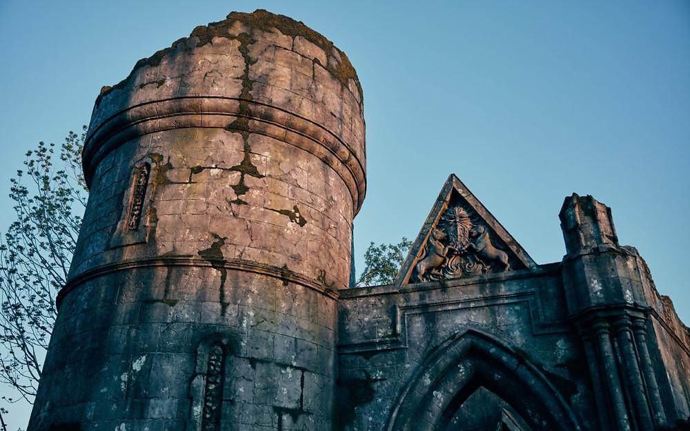 ruínas atrás cabana Hagrid