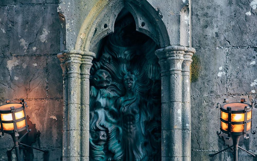 ruínas atras cabana Hagrid
