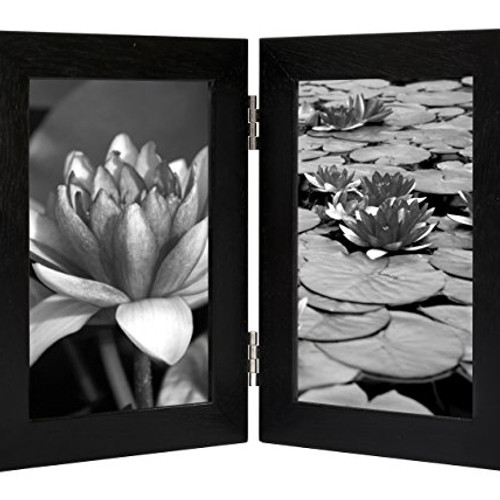 4x6 inch hinged picture frame with glass front made to display two 4x6 inch pi - Wholesale Art And Frames