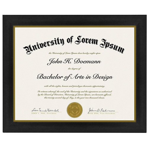 document frame made to display certificates 85x11 inch document frames cer - Wholesale Art Frames