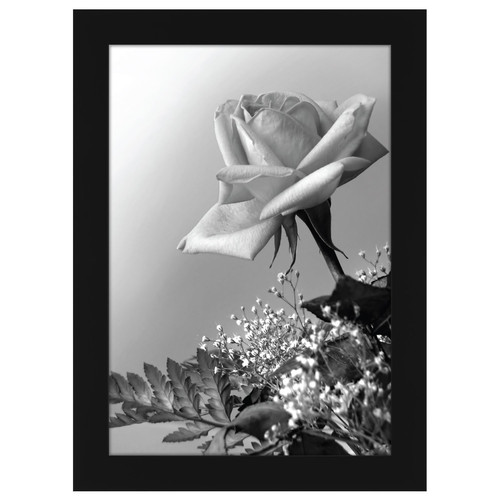 a4 21x297 cm black wood picture frame with glass front made to display pictu - Wholesale Art And Frames