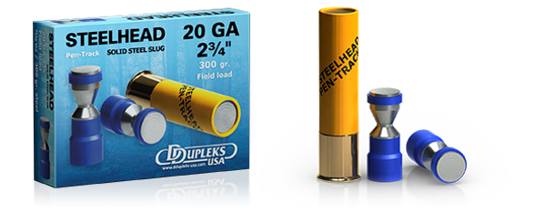 DDupleks USA Steelhead Monolit 28 lead-free solid steel shotgun slug ammunition