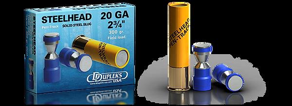 DDupleks USA Steelhead Monolit 28 lead-free solid steel shotgun slug ammunition