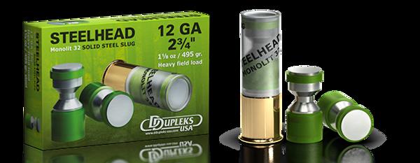 DDupleks USA Steelhead Monolit 32 lead-free solid steel shotgun slug ammunition