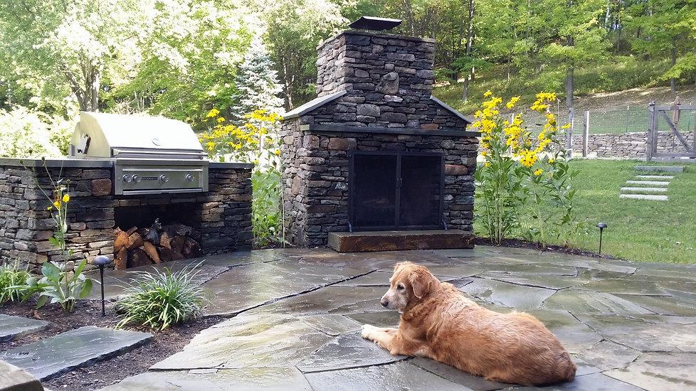 Massey Masonry- fireplace and grill