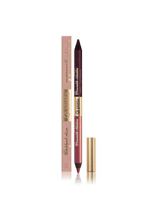 Amelia duo eyepencil brownish  crimson metallic & brownish crimson matte