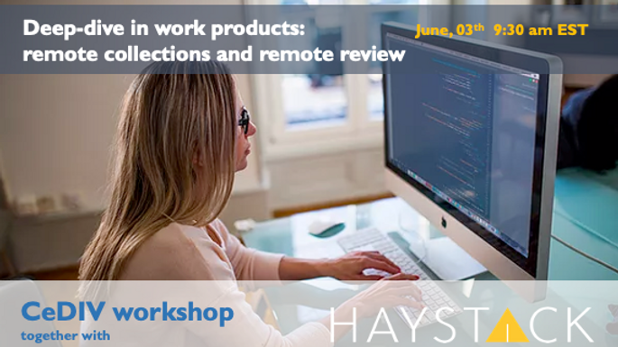 CeDIV/HaystackID online workshop
