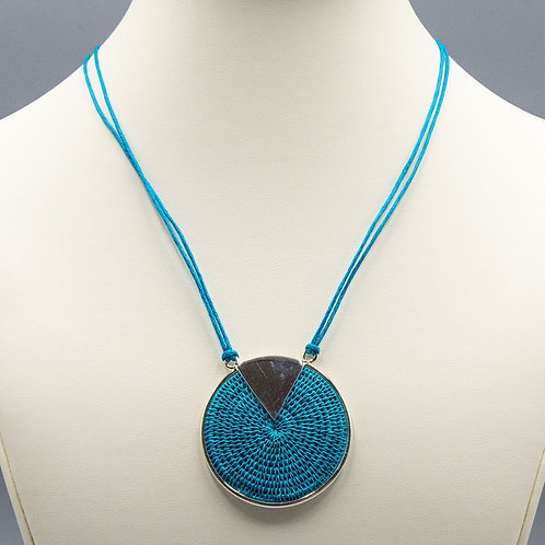 Sterling Triad Necklace - turq.