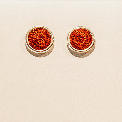 Silver Studs - red