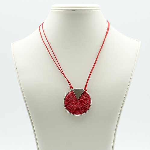 Sterling Triad Necklace - scarlet