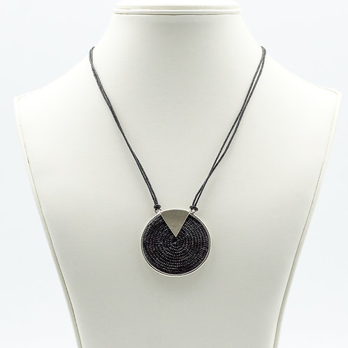 Sterling Triad Necklace - Midnight