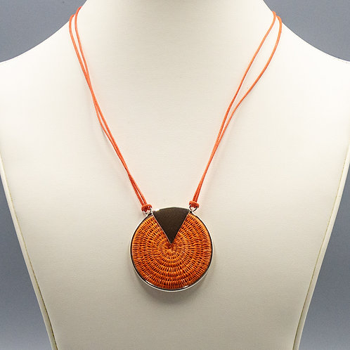 Sterling Triad Necklace- coral