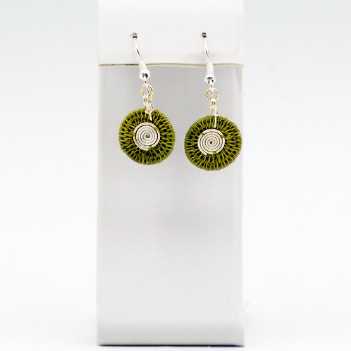 Sterling double spiral -Olive