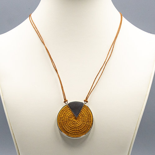 Sterling Triad Necklace - wheat