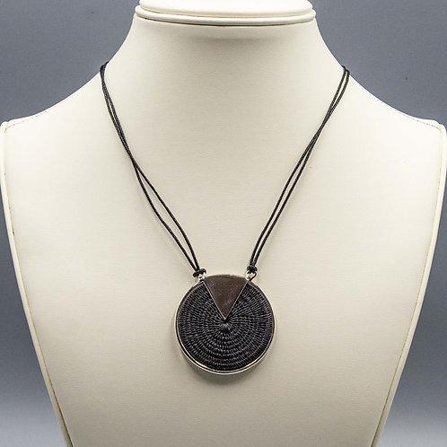 Sterling Triad Necklace - black