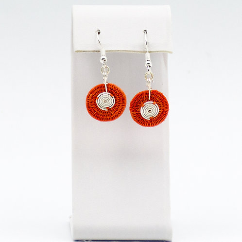 Sterling double spiral  - Coral