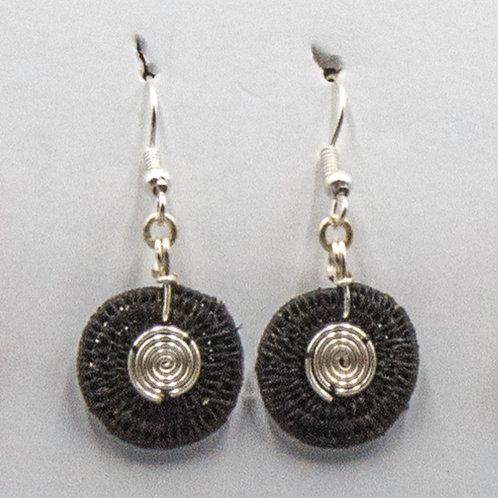 Sterling double spiral - black