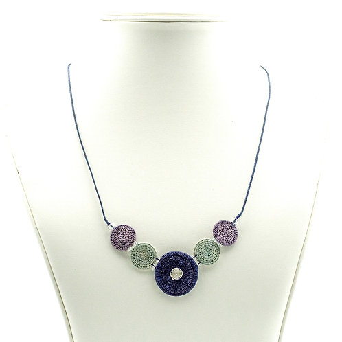 Spiral of Five - navy and sage