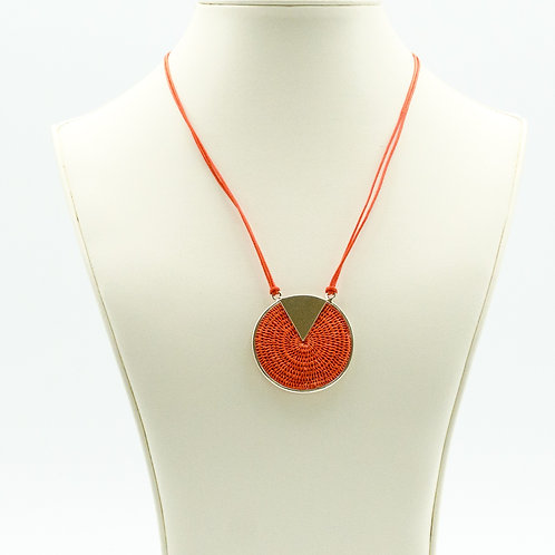 Sterling Triad Necklace - Coral