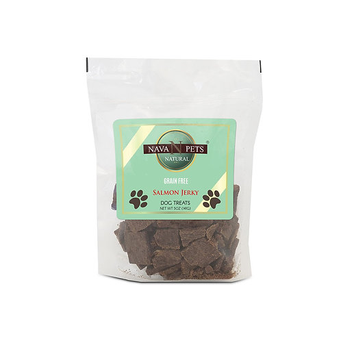 Nava Pets Dog Salmon Grain Free Jerky Treats 5OZ