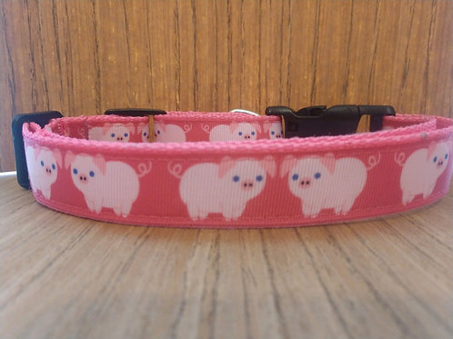 Pink Pigs  Martingale Collar