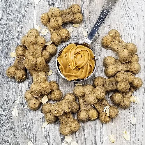 Oatmeal Peanut Butter Handmade Gourmet Dog Treats - 8 oz. Bag
