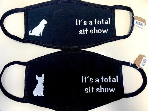 It's a total sit show - labrador face mask