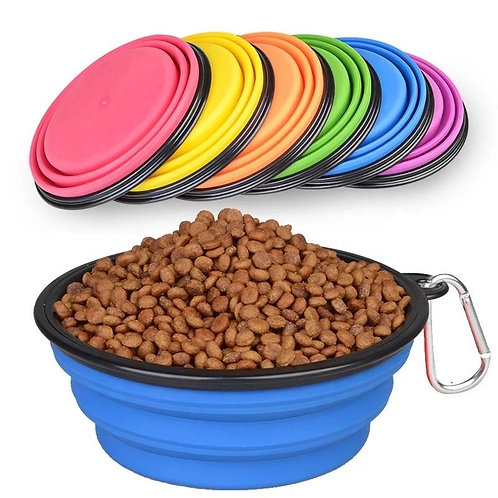 BEST SELLERS COLLAPSIBLE SILICONE TRAVEL PET BOWL (LARGE)