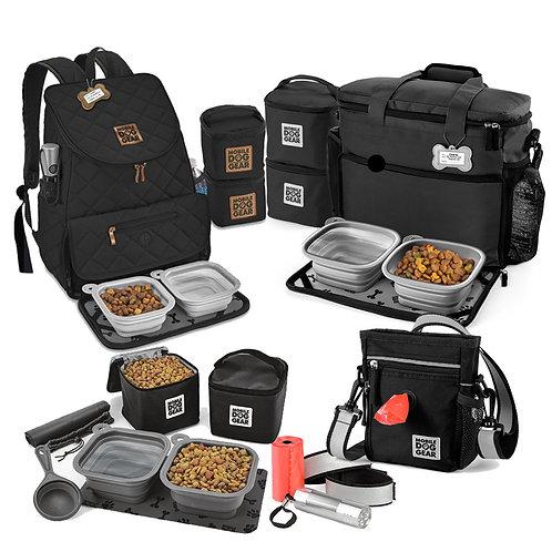 MDG Bundle: Walking Bag, Rolling Bag, Dine Away Set, Backpack (Black)