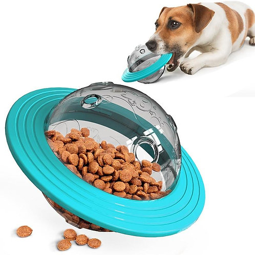 Dog  Flying Saucer Toys  Chew Leaking Slow Food Feeder