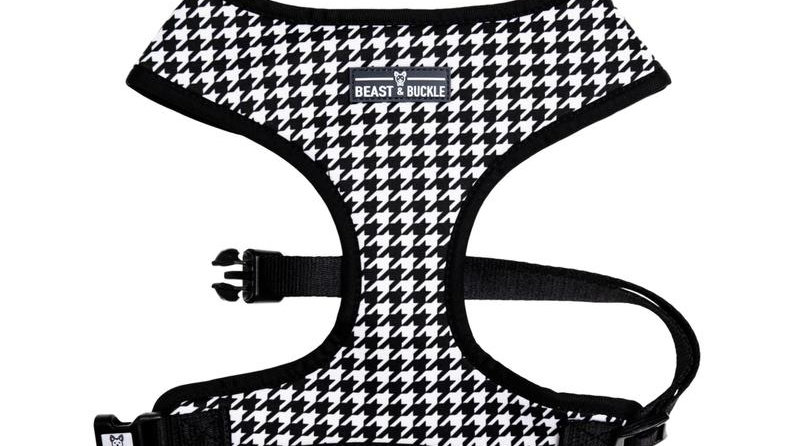 Beast and Buckle Houndstooth reversible harness