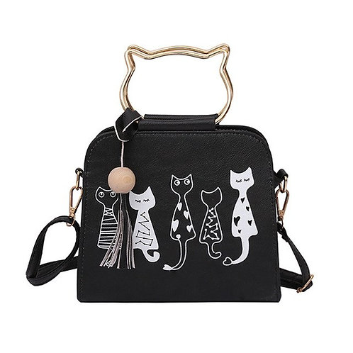 Messenger Bag  with cats