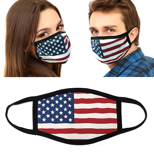Solid Flag face mask