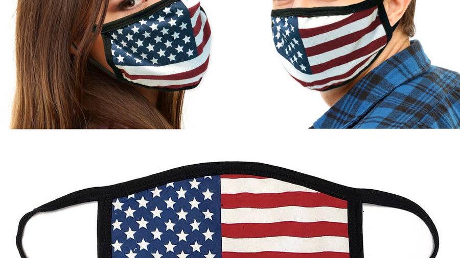 Solid Flag face mask