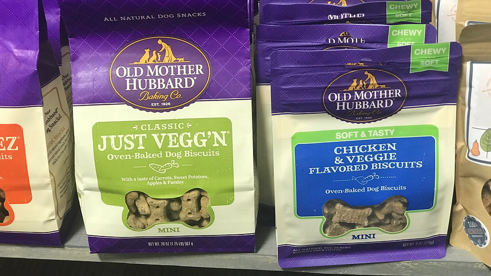 Old Mother Hubbard Just Vegg'n mini dog treats 20 oz