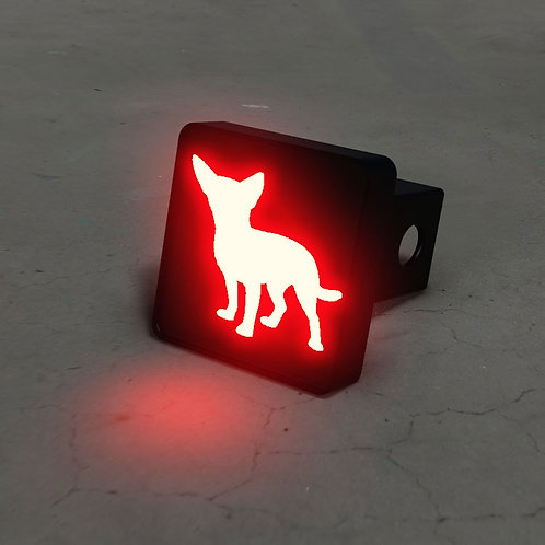Chihuahua Silhouette LED Hitch Cover - Brake Light