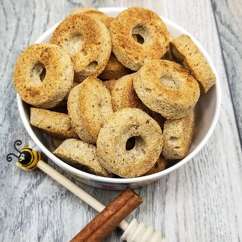 Honey Cinnamon Donuts Handmade Gourmet Dog Treats - 8 oz. Bag