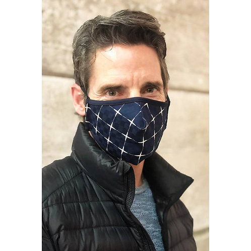 Geo print face mask