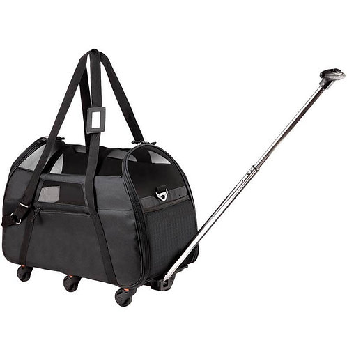 Katziela Black Airline Approved Wheeled Carrier