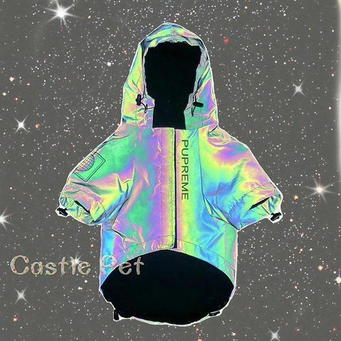New Reflective Dog Jacket ,Sping Pet Clothes Outfit,Flashing Hooded