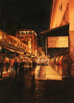 Nighttime Stroll Through Florence