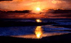 Sunset on Galveston Bay