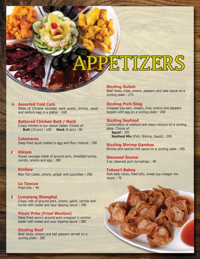 Menu Main - Appetizers